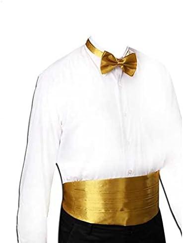 JJZXC Gentleman Solid Wide Silk Satin Elastic Belly Band Tuxedo Cummerbund Commercial Banquet Model Business Elite (Color : D)