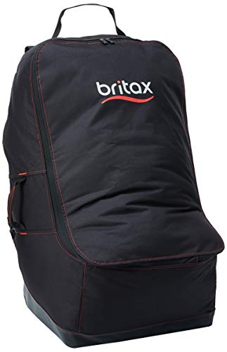 Britax Car Seat Travel Bag with Padded Backpack Straps | Water Resistant + Built-in Wheels + Multiple Carry Handles
