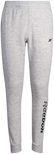 Reebok Boys Active Basic Fleece Jogger Sweatpants with Pockets, Size X-Large, Light Heather Grey