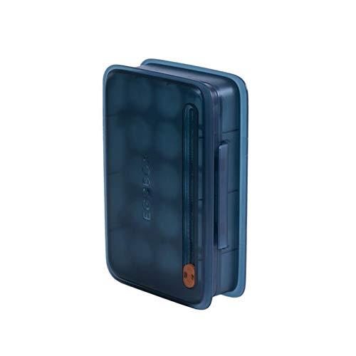 Liangwan Eierablage Rack Kühlschrank Eierhalterung Küchenfach für Kühlschrank einfrieren,Navy blau