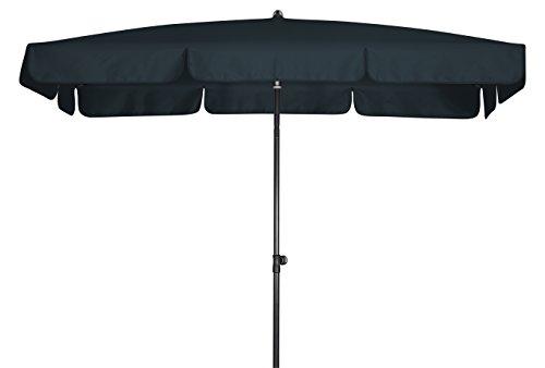 Doppler Absolut wasserdichter Gartenschirm Waterproof 260x150 UV-Schutz 80, Farbe anthrazit