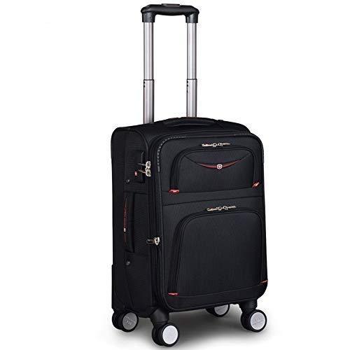 Anno Mochila para portátil con ruedas, universal, con ruedas, resistente al agua, para viajes de negocios, para hombres y mujeres, carrito de tela Oxford, color negro