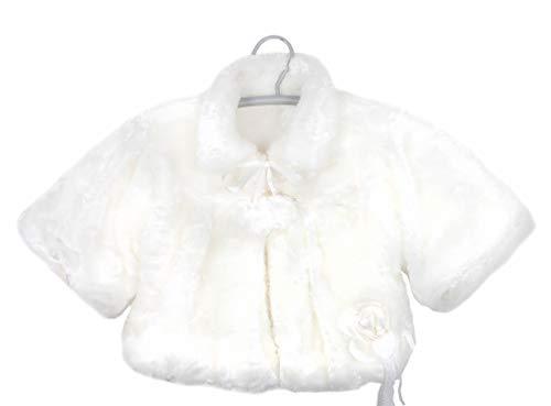 Grimada Baby Plüschjacke (104, weiß)
