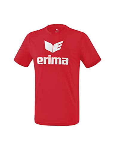 ERIMA Kinder T-shirt Funktions Promo T-Shirt, rot/weiß, 116, 2081908