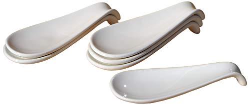 Canape Keramik-Display Löffel weiß 4.7x12cm x 6