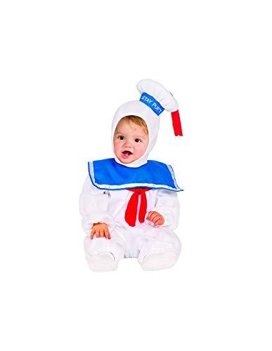 DISBACANAL Disfraz Marshmallow de Los Cazafantasmas beb - -, 3-4 aos