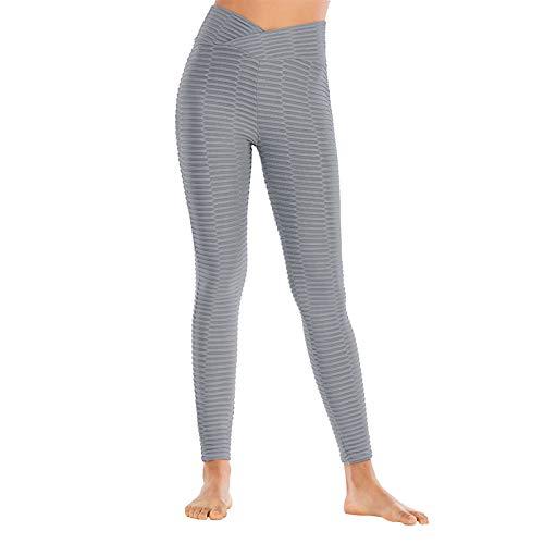 Kpasati Damen Fitness Hose Hose Bubble Net Reine Farbe High End Bequeme high Waist Vier Jahreszeiten im Jahr Yoga Hose