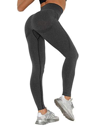 SHAPERIN Damen Sport Yoga Leggings Push up Sporthose für Workout Training Fitness (#8 Schwarz, S)