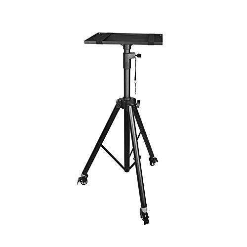 jinrun Projector Mounting Bracket Projector Laptop Stand, Multifunctional DJ Racks Stand, Adjustable Height Tripod, Foldable Notebook Computer Stand, Black Projector Mounts office (Color : A)