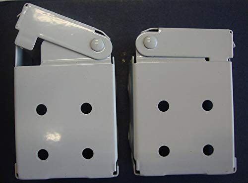 Low Profile Mounting Brackets for Faux and Wood Horizontal Blinds (1 Pair)