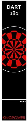 Kingpower Dartmatte, Dart Teppich Turnier Matte als Abwurflinie und Bodenschutz in 2 Größen, 237cm und 290cm , Auswahl:Design 22 - 290 x 60 cm