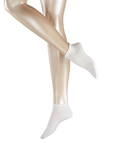 ESPRIT Damen Sneakersocken, 80% Baumwolle, Unifarben, weiche Baumwollmischung, Weiß (White 2000), 35/38, 2er Pack