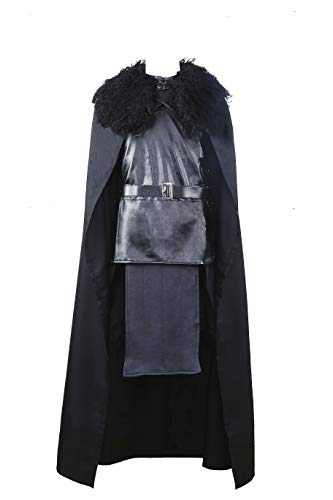 Game of Thrones Jon Snow The Night Watch Costume Halloween Party Cosplay (Small)