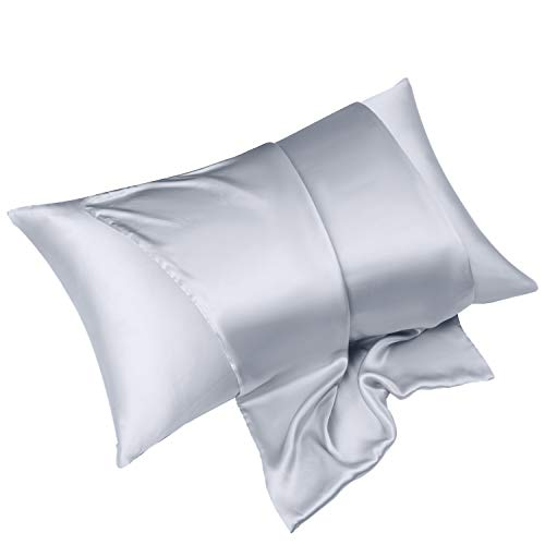 KEAFOLS Mulbery Silk Pillowcase for Hair Skin Standard Size 50x75cm, 19 Momme Silk 600TC 100% Hypoallergenic Pure Silk Pillow Case with Hidden Zipper, Soft Breathable Bed Pillow Cover 1 Pack