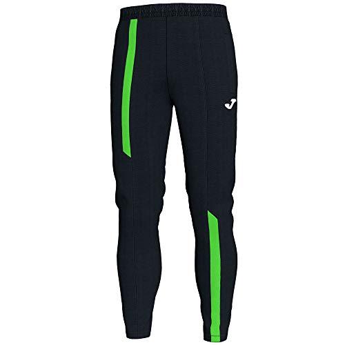 Joma Supernova Pantalón Deportivo, Negro-Verde Fluor, M para Hombre