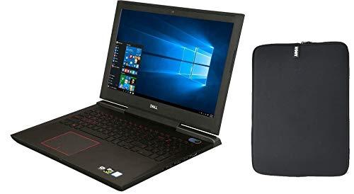 Dell Inspiron 15.6' FHD IPS Premium Gaming Laptop, Intel Quad-Core i5-7300HQ, 16GB RAM, 256GB SSD Boot + 1TB HDD, NVIDIA GeForce 1060 6GB, Backlit Keyboard, USB-C, Windows 10, w/ WOOV Accessory Bundle