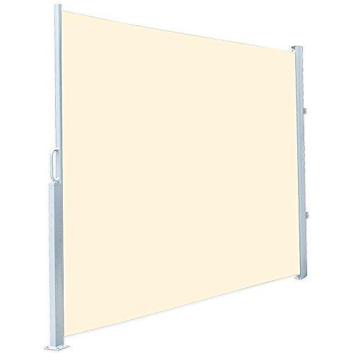 Royal Gardineer Markise: Seitenmarkise 120 x 200 cm, für Garten, Balkon und Terrasse, beige (Wandhalter für Seitenmarkise)