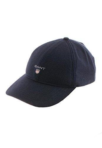 Gant O2 Melton Cap Gorra de béisbol, Gris (Dark Grey Melange), Talla única para Hombre