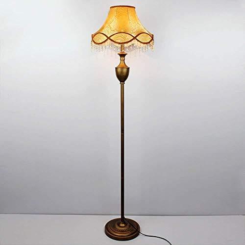 WYH mode staande lamp woonkamer complex klassiek studie slaapkamer slaapkamer brons bruin stof verticale tafellamp dimming comfortabel
