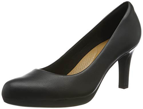 Clarks Damen Adriel Viola Pumps, Schwarz (Black Leather), 43 EU