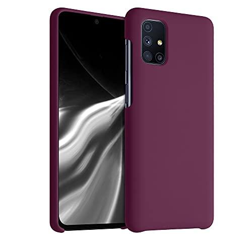 kwmobile Hülle kompatibel mit Samsung Galaxy M51 - Hülle Silikon gummiert - Handyhülle - Handy Hülle in Bordeaux Violett