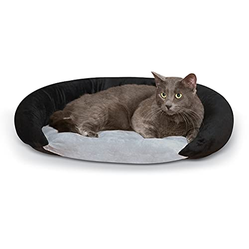 K&H Pet Products Self-Warming Bolster Bed Pet Bed Gray/Black 14