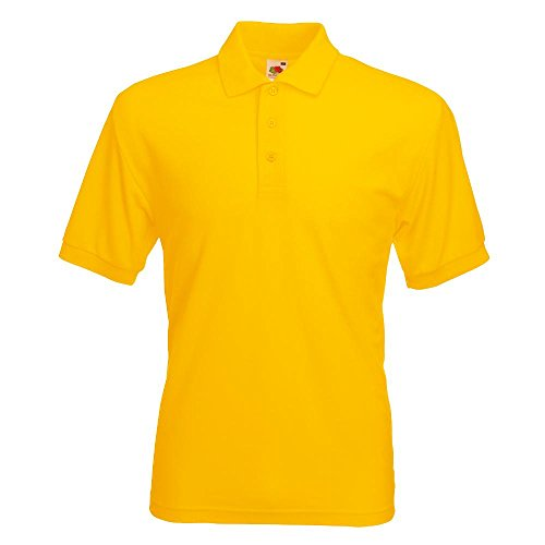 Fruit of the Loom - Piqué Polo Mischgewebe / Sunflower, XL XL,Sunflower