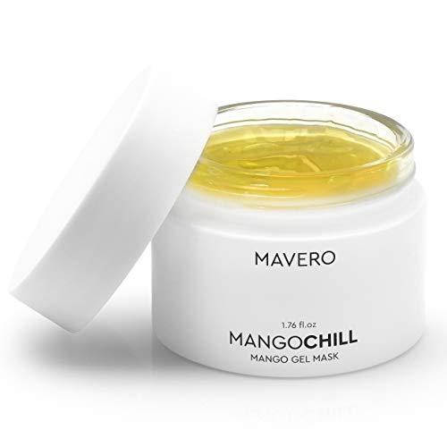 MAVERO MANGOCHILL - kühlende Mango Vitamin C Gesichtsmaske, Feuchtigkeits-Maske, Gesichtspflege unreine Haut, Mitesser-entferner, Face Mask