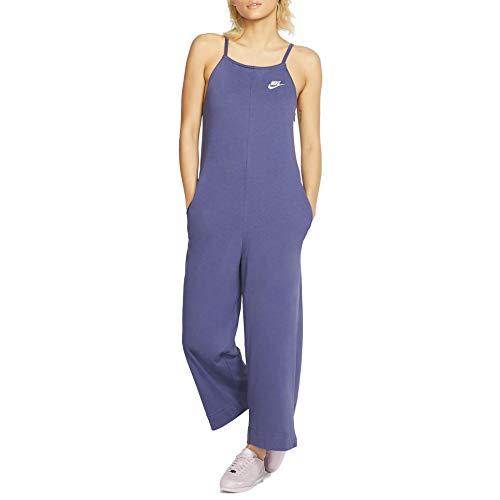 Nike Womens NSW Jumpsuit Jrsy Womens Bv3976-557, Sanded Purple/Sanded Purple/Echo Pink, Small