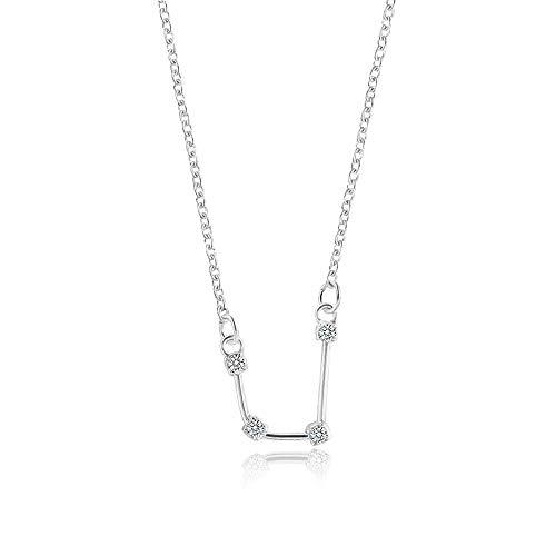 WikiMiu Collares para Mujer, Collar de doce constelaciones con circón, Joyería de moda simple, Regalo para mujer para el día de san valentín de cumpleaños