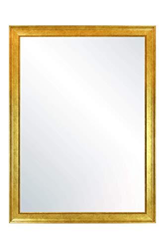 CHELY INTERMARKET, Espejo de Pared Cuerpo Entero Medidas 60X80 cm (67,50x87,50 cm) Dorado/Mod-155, Ideal para peluquerías, salón, Comedor, Dormitorio y oficinas. Fabricado en España. Material Madera.