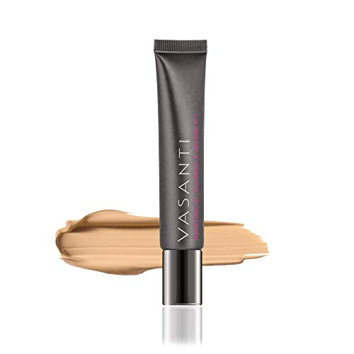 Vasanti Cosmetics Liquid Cover-Up - Foundation & Concealer in 1 - Oil-Free - V6 by Vasanti Cosmetics