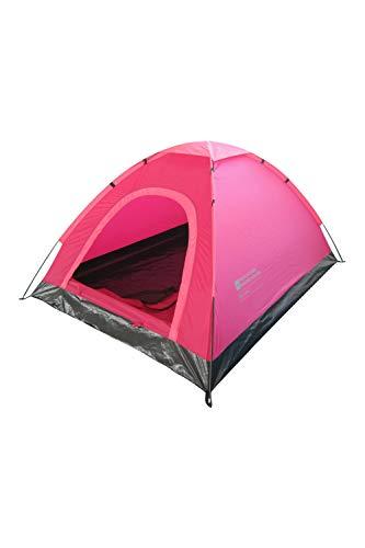 Mountain Warehouse Festival Fun 2-Personen-Zelt - Zeltboden, wasserabweisendes Outdoor-Zelt, leichte, atmungsaktives Schlafzelt - Für Bergwandern, Sommerfestivals leuchtendes Pink Einheitsgröße