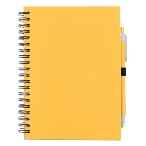 Libreta de anillas de 70 hojas con tapa dura y bolígrafo incluido (1)