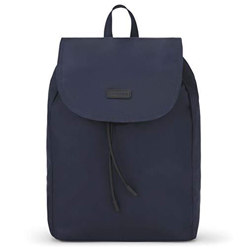 Expatrié Rucksack Damen Blau Clara Damenrucksack aus hochwertigem Nylon - Blauer Freizeit Tagesrucksack Leicht & Klein - Moderner Daypack für Frauen, Magnetverschluss & wasserabweisend