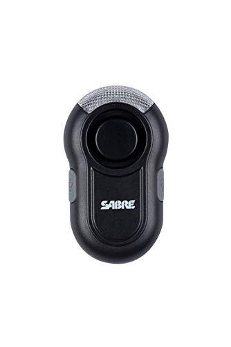 SabreRed Personen-Alarm mit Trageclip und LED Licht - Das 120 dB Alarmsignal ist ca. 185 Meter weit zu hören - Bleiben Sie sichtbar auch bei Nacht durch das integrierte LED-Licht