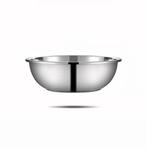MXJ61 304 Deep Deep Deep Stainless Steel Pot Cuisine Epices Basin Wash Vegetables Pots Mixing Bowl Home Soupe Basin (Taille : 18cm)