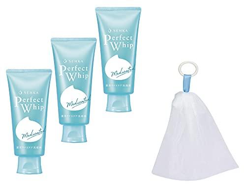 洗顔専科パーフェクトホイップアクネケア洗顔料120g×3個+洗顔ネット付