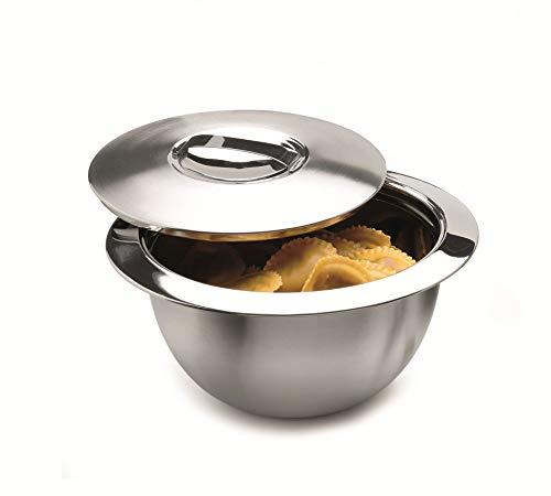 Weis 24037 Edelstahl Thermo Küchenschüssel Schüssel mit Deckel 37,5cm 7 Liter