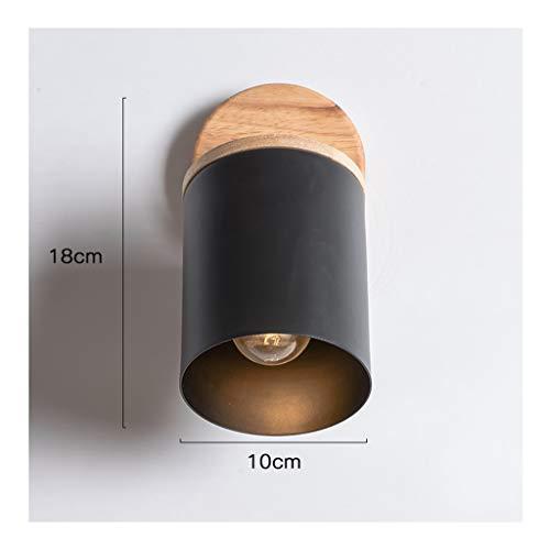 - Wandlamp Nordic wandlamp, E27 kleurrijke ijzer-kunst-houten wandlamp, woonkamerdecoratie, slaapkamer, nacht studeerkamer, kinder-nachtlampje, gang, slaapkamerverlichting