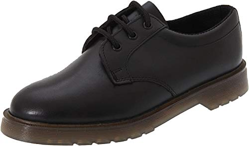 Mens Grafters Uniform Black Leather Air Cushioned Sole Work Shoes Heat Oil Petrol Resistant Soles , 8 UK, Black