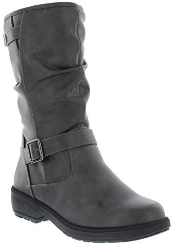 sporto Women's Tess Waterproof Fashion Snow Boots, Grey, 8 M US