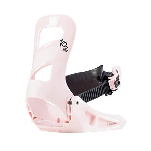 K2 Snowboarding Mädchen Lil Kat Black pink Snowboard-Bindung, Schwarz - Rosa, XS