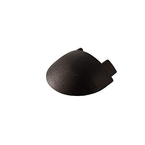 reprofil Accessoires pour profil LED F de Le-01–10 Embout, Lot de 2, noir 978702