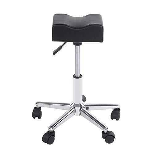 Pediküre Maniküre Fußstütze mit Rädern, Höhenverstellbarer Rollstuhl Drehbarer Nagelhocker für Inland/Spa/Büro/Schreibtisch/Küche/Gitarre/Tätowierung/Maniküre