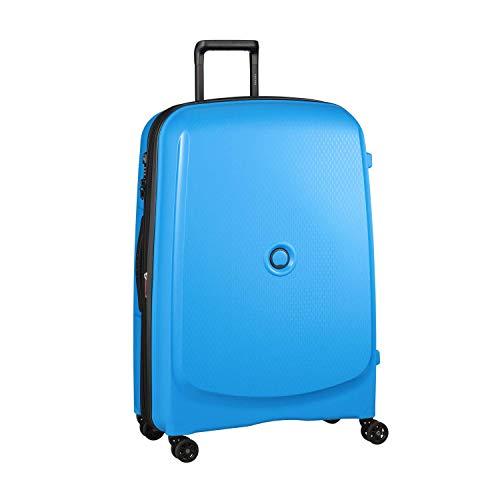 DELSEY Paris Belmont Plus Maleta, 76 cm, 102.2 litros, Azul Metalico