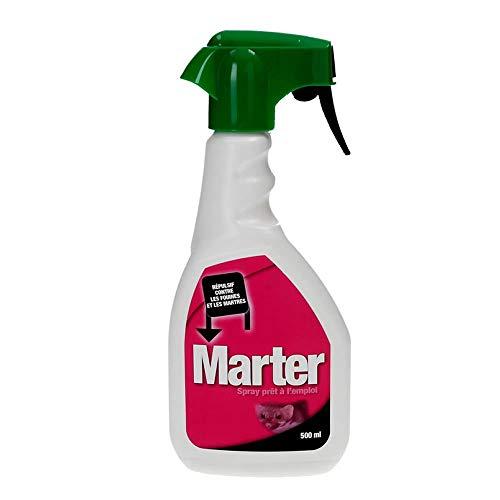 Répulsif Professionnel contre les fouines et les martres à utiliser dans le capot de voiture et aux endroits de passage. 500 ML Spray Belgagri Marter