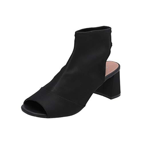 Topshop Disco Stretch Damen Sandalen Schwarz Flip-Flops Sommer Schuhe, Größe:EUR 37