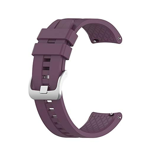 YGGFA Correa de muñeca de 22 mm para Huawei Watch GT GT2 de 42 mm y 46 mm para reloj inteligente, correa deportiva (color de la correa: morado, ancho de la correa: para GT2 de 46 mm)