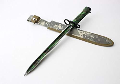 seltenes extremst *3-Klingen* AK-47 CCCP Camouflage Bajonett - Kampfmesser - Jagdmesser - Hirschfänger - Saufänger - Saufeder - Survival - Outdoor - Messer - Hunting-Knife !Vorsicht Spitz!